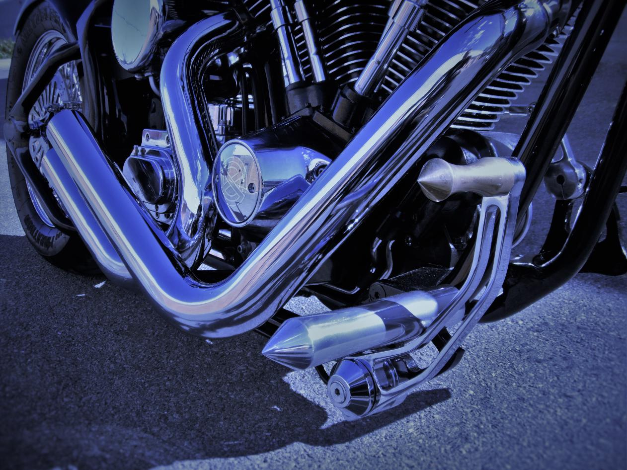 custom exhaust harley softail