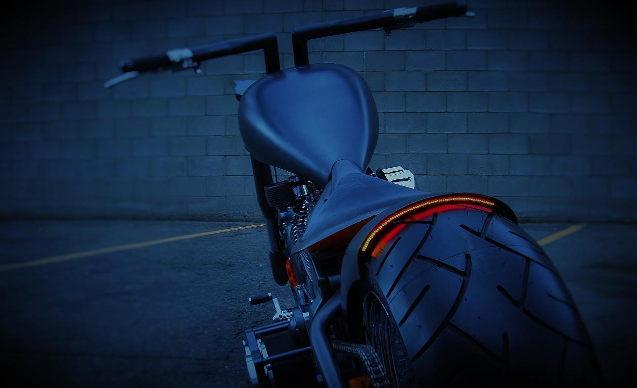 custom led lighting harley bobber chopper radiantz leds