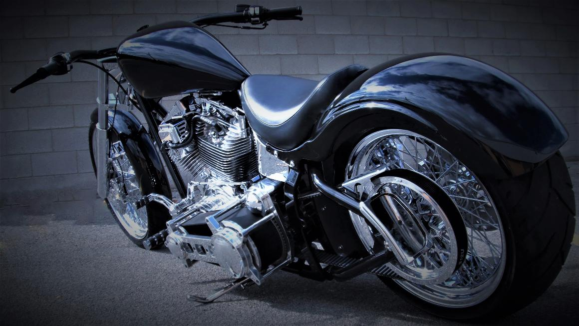 pro street custom harley wide tire ultima parts