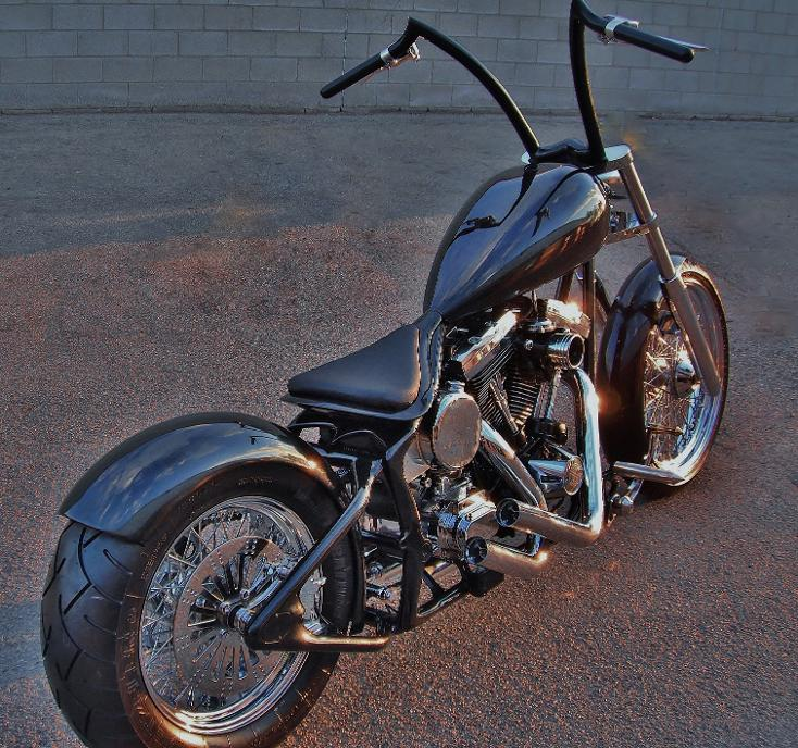 bobber softail harley 200 tire evo engine