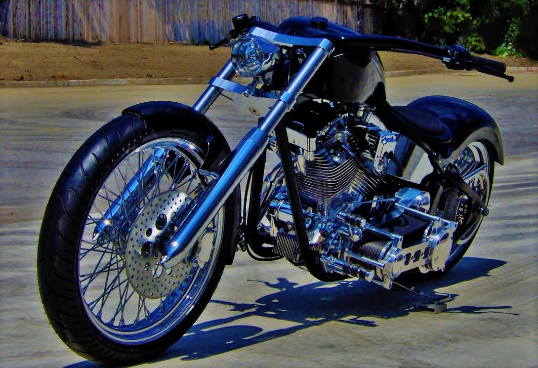 custom chopper wide tire softail canada
